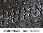 a macro shot of a waterproof... | Shutterstock . vector #1077188048