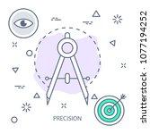 precision modern flat color... | Shutterstock .eps vector #1077194252
