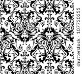 Black And White Damask Seamles...