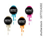 abstract modern banner with... | Shutterstock .eps vector #1077214202