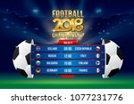 vector of football championship ...   Shutterstock .eps vector #1077231776