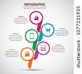 infographic business colorful... | Shutterstock .eps vector #1077231935