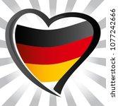 germany flag in shape of heart | Shutterstock .eps vector #1077242666