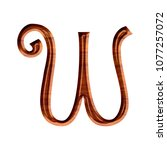 Inlaid Wood Style Letter W In A ...