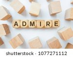 admire word on wooden cubes | Shutterstock . vector #1077271112
