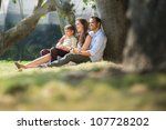 happy family with man  woman... | Shutterstock . vector #107728202