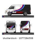 cargo van graphic vector in... | Shutterstock .eps vector #1077286508