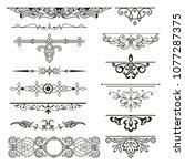 decorative elements for design...   Shutterstock .eps vector #1077287375