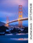 golden gate bridge in san... | Shutterstock . vector #1077290438