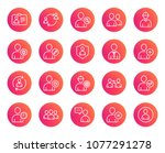 users line icons. profile ... | Shutterstock .eps vector #1077291278