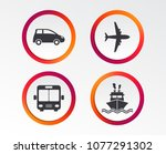 transport icons. car  airplane  ... | Shutterstock .eps vector #1077291302