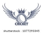 vector illustration of cricket... | Shutterstock .eps vector #1077293345
