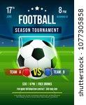 football season tournament...   Shutterstock .eps vector #1077305858