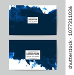 set of vector business card... | Shutterstock .eps vector #1077311036