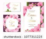 wedding event invitation save... | Shutterstock .eps vector #1077311225
