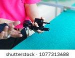 revolver gun reload. how to... | Shutterstock . vector #1077313688