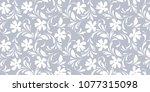 delicate seamless flowers.... | Shutterstock .eps vector #1077315098