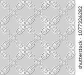 3d white paper art curve round... | Shutterstock .eps vector #1077326282