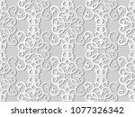 3d white paper art spiral... | Shutterstock .eps vector #1077326342