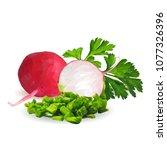 fresh  nutritious  tasty red...   Shutterstock .eps vector #1077326396