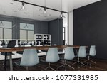 modern boardroom interior with... | Shutterstock . vector #1077331985
