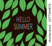 hello summer. background with... | Shutterstock .eps vector #1077344876