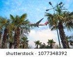 istanbul  turkey   20 april ... | Shutterstock . vector #1077348392