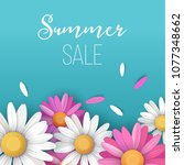 summer sale background with... | Shutterstock .eps vector #1077348662