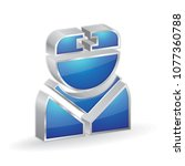nurse 3d glossy vector icon...   Shutterstock .eps vector #1077360788