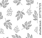 seamless pattern with leaves | Shutterstock .eps vector #1077375725