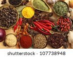 Spices And Herbs In Metal ...