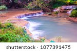 water flowing at than sawan... | Shutterstock . vector #1077391475