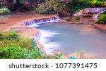 water flowing at than sawan... | Shutterstock . vector #1077391475
