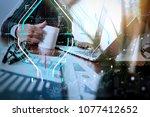 business data analytics process ... | Shutterstock . vector #1077412652