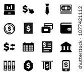 flat vector icon set   bank...   Shutterstock .eps vector #1077421112