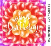 text happy birthday on...   Shutterstock .eps vector #1077428558