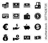 flat vector icon set   dollar... | Shutterstock .eps vector #1077428735