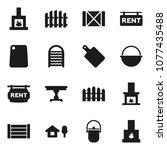 flat vector icon set  ...   Shutterstock .eps vector #1077435488