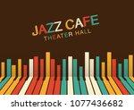 artistic jazz night background... | Shutterstock .eps vector #1077436682