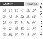 30 thin line icons associated... | Shutterstock .eps vector #1077448286