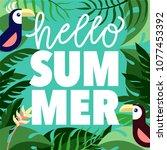 hello summer  modern... | Shutterstock .eps vector #1077453392