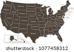 highly detailed usa map vector... | Shutterstock .eps vector #1077458312