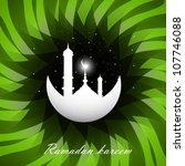 ramadan kareem bright green... | Shutterstock .eps vector #107746088