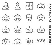 flat vector icon set   support... | Shutterstock .eps vector #1077461306