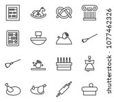 flat vector icon set   abacus... | Shutterstock .eps vector #1077462326