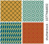 seamless geometric patterns ... | Shutterstock .eps vector #1077466832