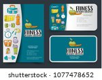 fitness and healthy lifestyle... | Shutterstock .eps vector #1077478652