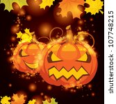 vector illustration halloween... | Shutterstock .eps vector #107748215