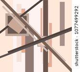 abstract suprematism... | Shutterstock .eps vector #1077499292