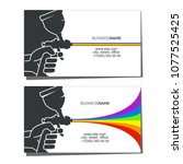 business card concept for... | Shutterstock .eps vector #1077525425